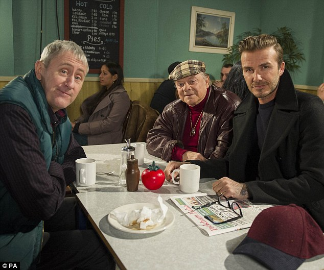 On the small screen:Last year, David made a special guest appearance in an Only Fools and Horses sketch for Sport Relief