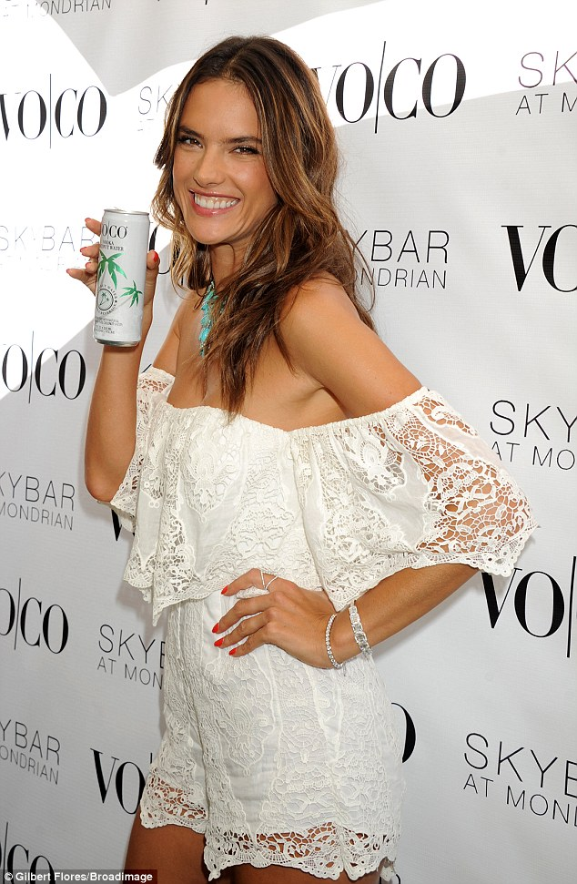 Thirsty?:The leggy model is the exclusive spokesperson for VO|CO, a vodka and coconut water cocktail