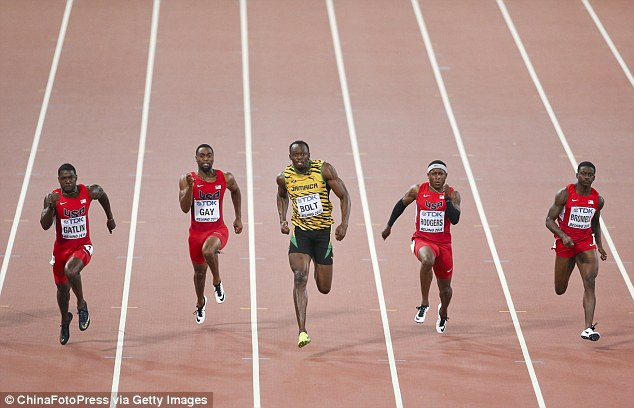 Bolt clocked a time of 9.79 seconds at the Bird's Nest Stadium to win his 10th individual global title