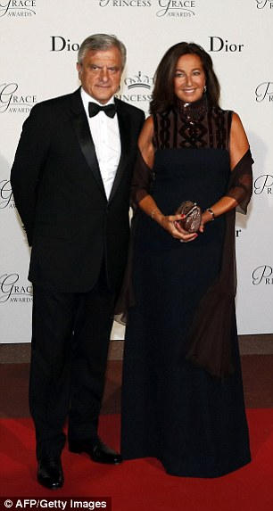 CEO of French Christian Dior Couture, Sidney Toledano and his wife Katia arrive at the event