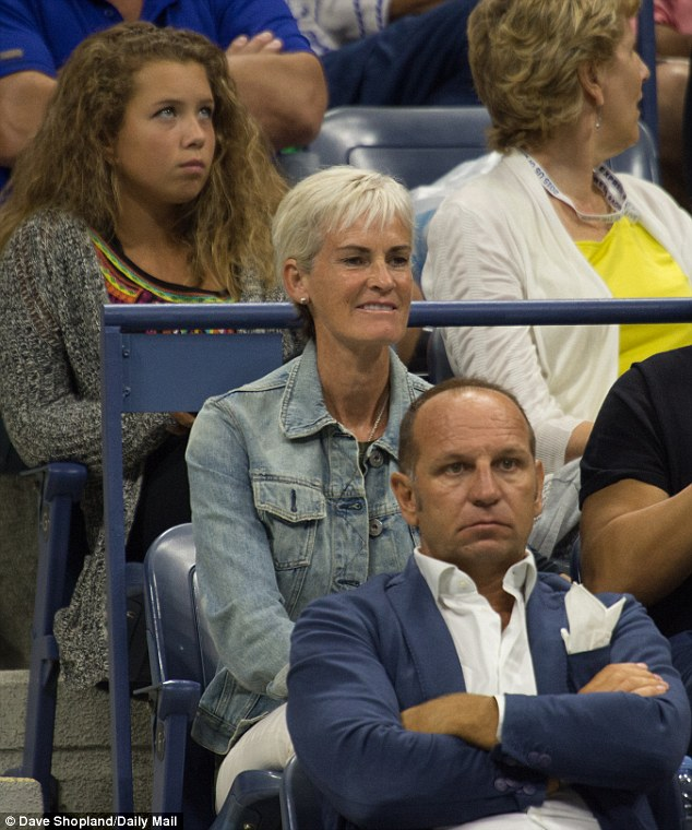 Andy's mother Judy Murray could also be spotted in the crowd who recently revealed that she is really 'looking forward to being a granny'