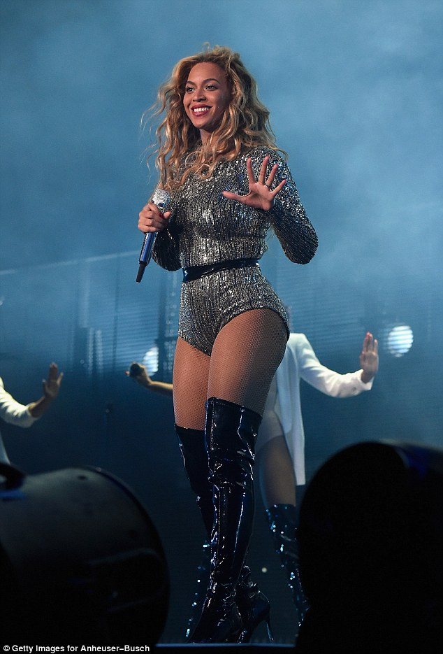 Empowering: Beyonce spoke out against critics of her defined body, insisting 'every muscle has a purpose'