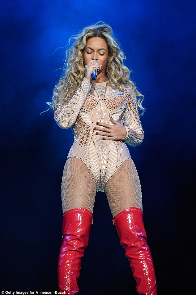 Nice to PVC you: Alongside a hits-packed set, Beyonce ensured her stage costumes were the event's real highlight