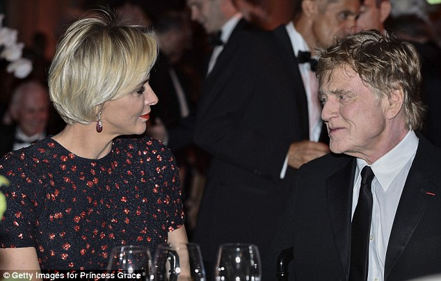 During the gala Princess Charlene was spotted chatting to acting legend and award winner Robert Redford