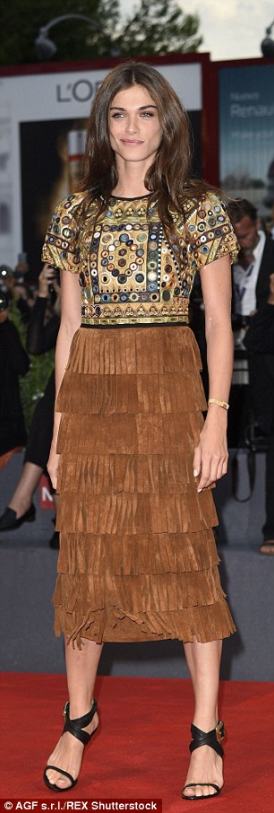 Warrior chic: Elisa looked gorgeous in fringing