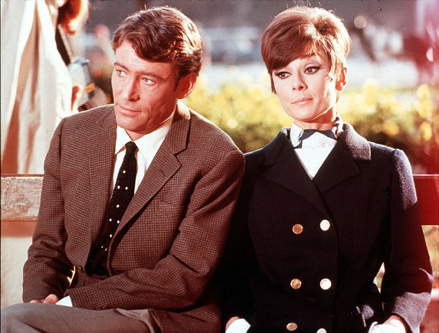 The British-Irish stage and screen actor alongsie Audrey Hepburn in the 1966 film How to Steal a Million