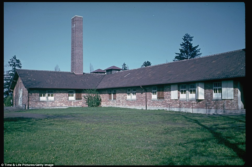 One of the barracks in Dachau concentration camp, photographed by Hugo Jaeger in 1950