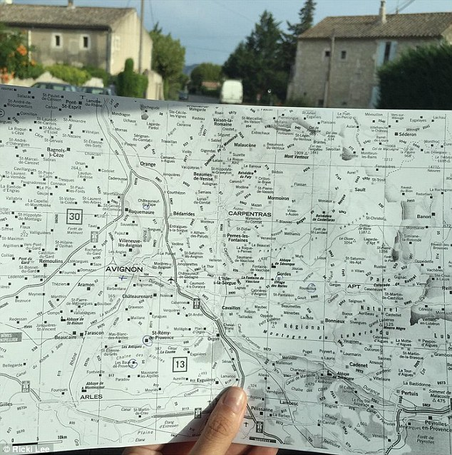 Exploring!She and her new husband enjoyed a 'roadtrip' from Nice, on the French Riviera, to Saint-Rémy-de-Provence