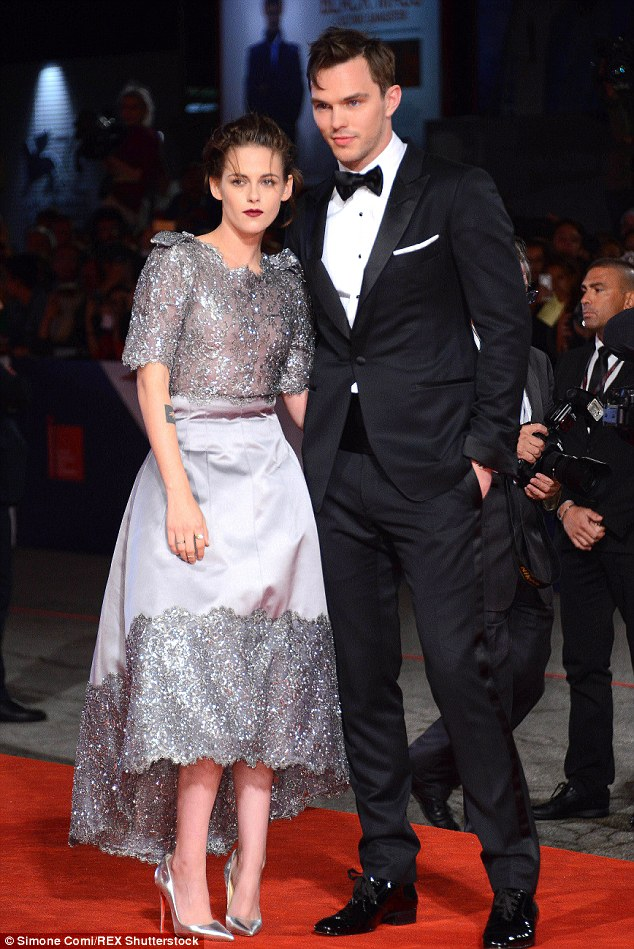 Co-stars: The pair put an affectionate arm around one another as they posed for photos on the red carpet