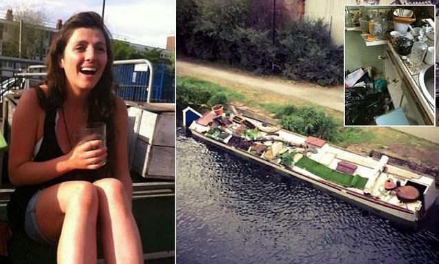 Homeopathy student Genevieve Dunne's houseboat sank off Regent's Canal