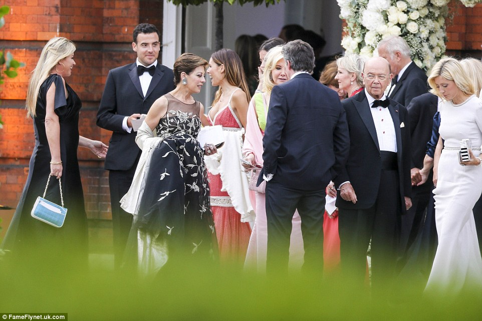 Big names: Among those in attendance were stylist J. Logan Horne (second from left), publicist Peggy Siegal (third from left), investor Wilbur Ross (second from right), and Crown Princess Marie-Chantal of Greece (right)