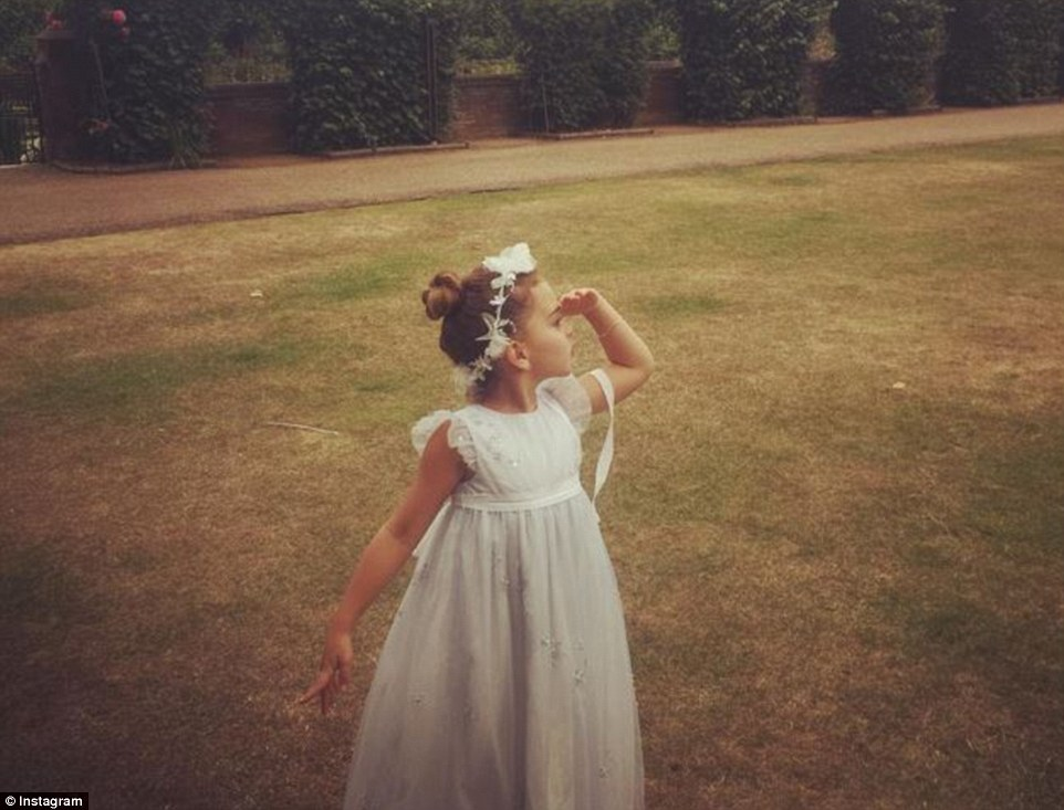 Pretty princess: Kyle Richards shared a photo of her daughter Portia Umansky (above), who was the flower girl
