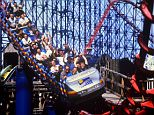 E97GGN The Big One steel roller coaster. Blackpool Pleasure Beach. Lancashire.