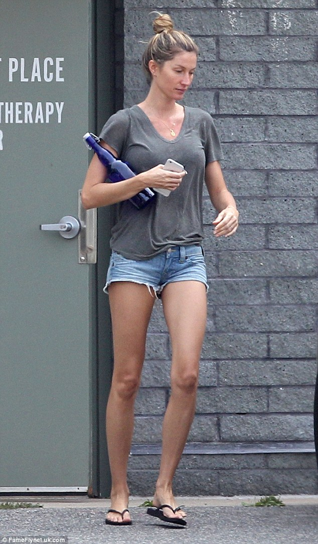 Showing support: On Friday, a make-up free Gisele was spotted visiting  Gillette Stadium after Tom's four-game suspension was dropped due to the 'Deflategate' scandal
