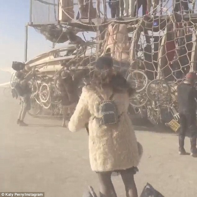 Fail: The 30-year-old posted an Instagram video of herself driving around the Nevada's Black Rock Desert - or trying to