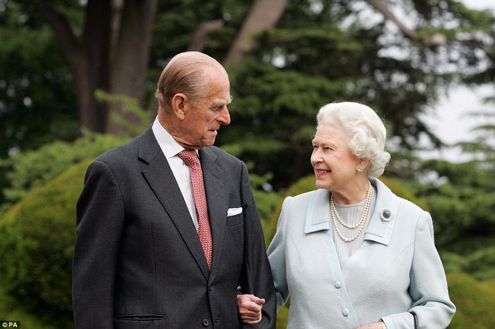 2007: To mark their 60th wedding anniversary, the Queen and the Duke of Edinburgh visit Broadlands in Hampshire, where they spent their wedding night