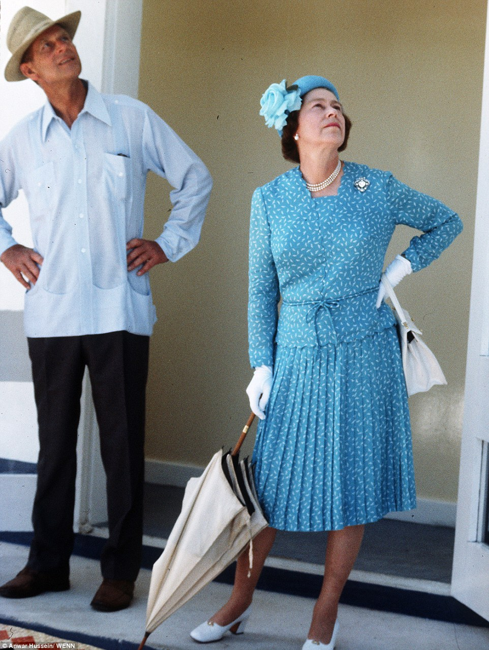 1982: The Queen and the Duke of Edinburgh look relaxed and and dressed casually while on a visit to the Solomon Islands in 1982