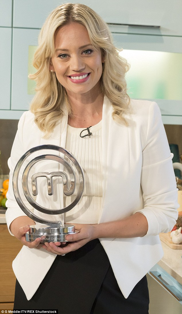 Having scooped the Masterchef trophy in July, beating TV presenters Rylan Clark and Sam Nixon, Kimberly is clearly a big foodie - but she is also sensible with her diet