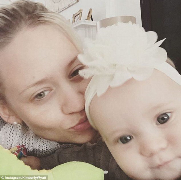 Kimberly - who welcomed daughter Willow Jane on December 2, her first child with supermodel husband Max Rogers - told FEMAIL that her life is now 'filled with more joy than ever'