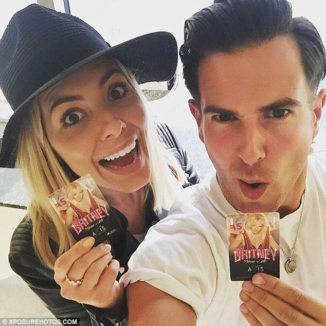 Hit Me Baby One More Time! Taking to Instagram, the blonde beauty posted a selfie with her companion, showing them both clutching their Britney tickets