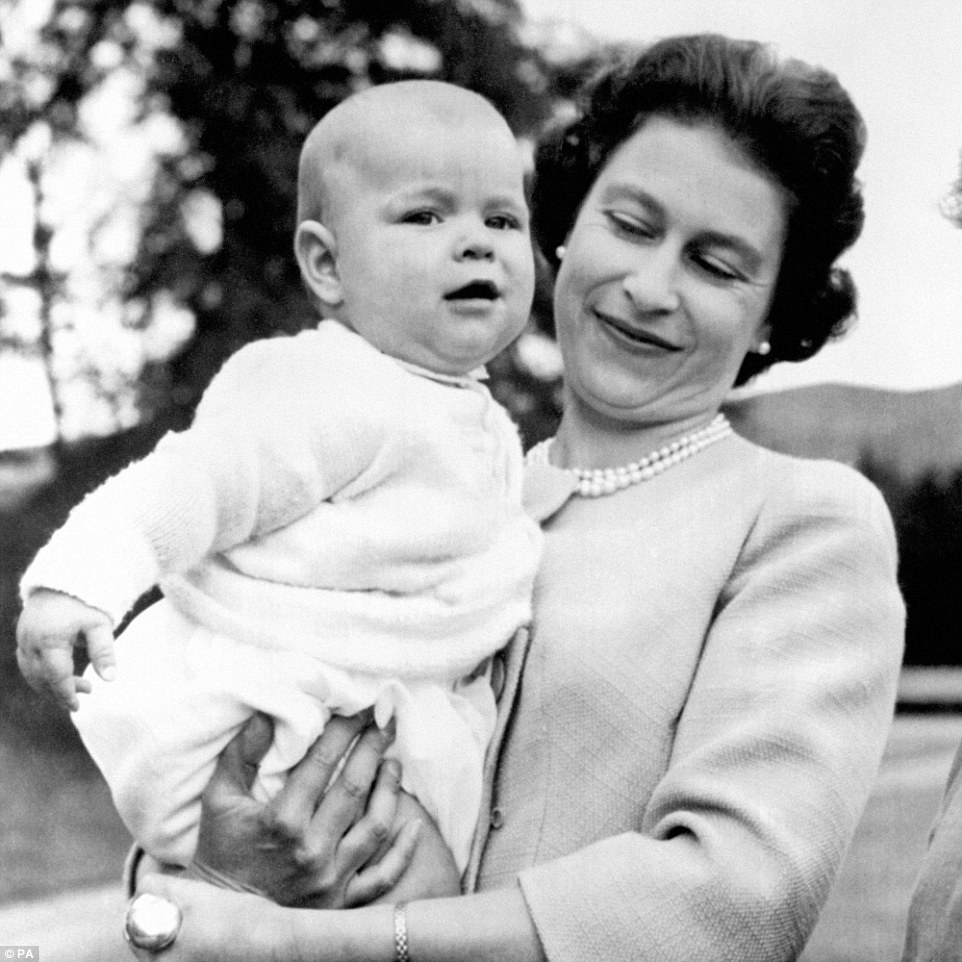 1960: During the 1960s, pictures showed the Queen as a young, vibrant monarch. She is pictured holding a young Prince Andrew in the grounds of Balmoral