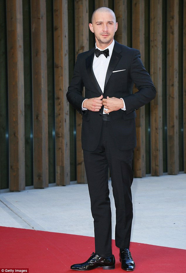 Sharpening up! Shia LaBeouf was a far cry from his scruffy self when he attended the Man Down premiere at the Venice Film Festival in Italy on Sunday