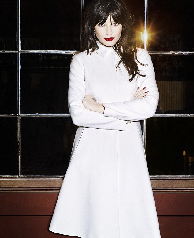 With her lips painted pillar box red and glossy black hair tousled to perfection, Daisy Lowe looks every inch the glamorous designer's muse.The Giles Deacon for Debenhams collection will launch in stores this month