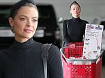 Mother of two, Jaime King, takes advantage of Labor Day sales and loads up on essential cleaning supplies in Los Angeles.\n\nPictured: Jaime King\nRef: SPL1113530  310815  \nPicture by: Splash News\n\nSplash News and Pictures\nLos Angeles: 310-821-2666\nNew York: 212-619-2666\nLondon: 870-934-2666\nphotodesk@splashnews.com\n