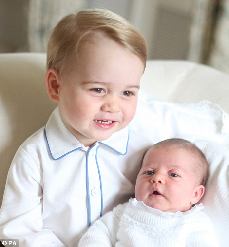 Princess Charlotte pictured with her brother in mid-May at Amner Hall in Norfolk
