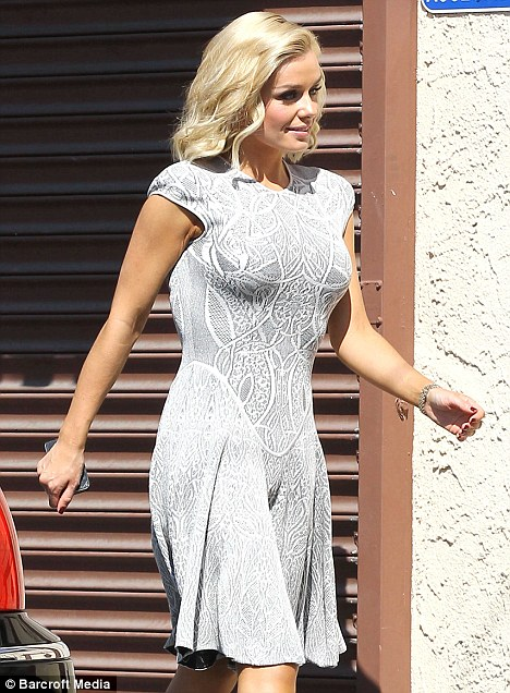 Elegant at every opportunity! Katherine Jenkins showed off her curves in a ladylike dress as she arrived for Dancing With The Stars rehearsals yesterday