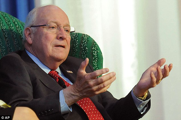 Dick Cheney (above) also said that he does not support the nuclear deal with Iran