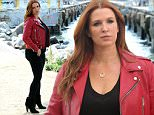 "NEW YORK, NY - SEPTEMBER 04:  Poppy Montgomery film A&E's ""Unforgettable"" on September 4, 2015 in New York City.  (Photo by Steve Sands/GC Images)"