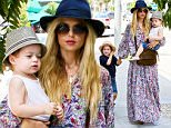 Rachel Zoe got out for some shopping at Kitson in Beverly Hills, accompanied by her boys, Slyler and Kaius, on Friday, September 4, 2015 X17online.com