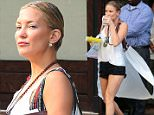 Kate Hudson seen wearing black jean shorts and holding a coffee cup in New York City\n\nPictured: Kate Hudson\nRef: SPL1117259  050915  \nPicture by: RobO/Splash News\n\nSplash News and Pictures\nLos Angeles: 310-821-2666\nNew York: 212-619-2666\nLondon: 870-934-2666\nphotodesk@splashnews.com\n