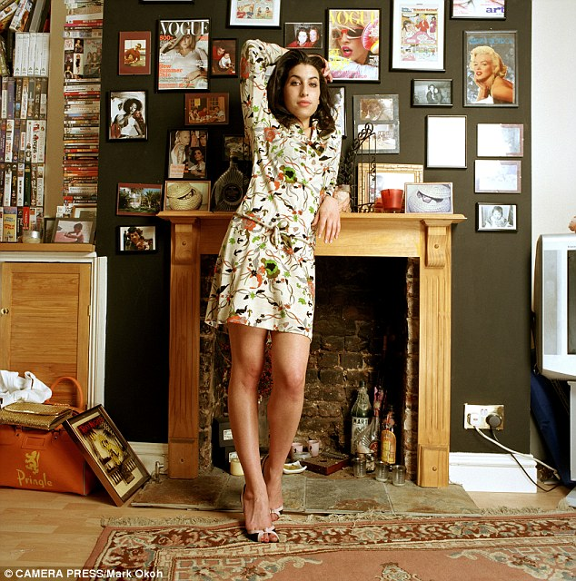 Tragic: A new San Francisco exhibit is offering an intimate peak into the early years of Amy Winehouse (pictured here in 2004) through previously unseen photographs and a collection of her valued possessions