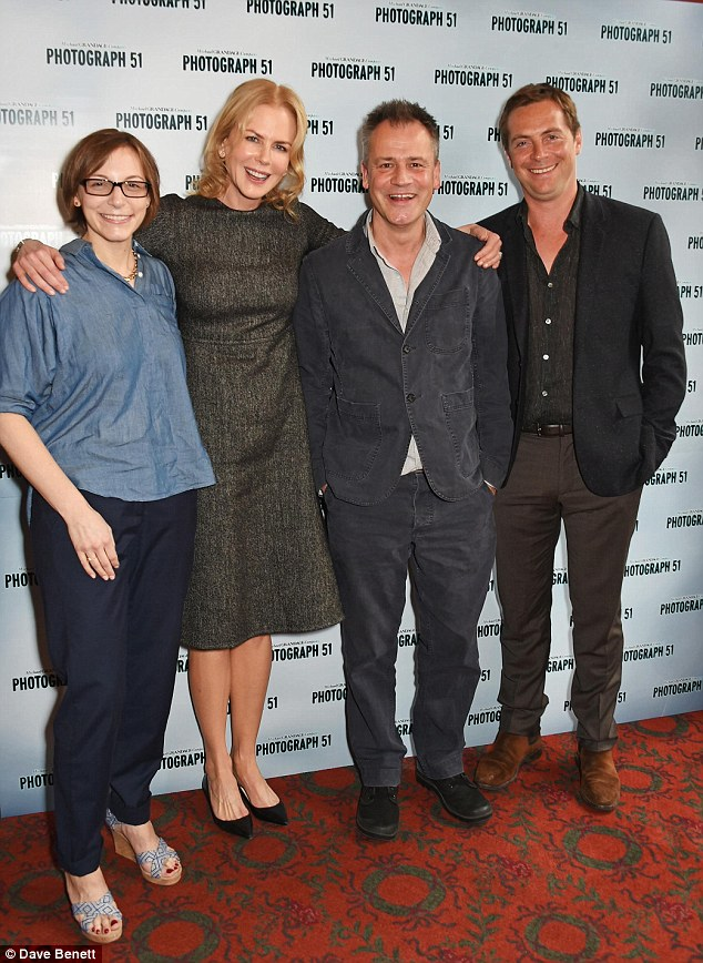 Line-up: Playwright Anna Ziegler, Nicole Kidman, director Michael Grandage and Stephen Campbell Moore