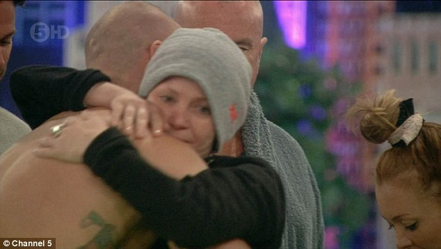 Touching: Gail was reduced to tears after witnessing Austin's kind-hearted move