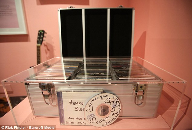 Prized possession: Amy's music collection is dominated by jazz and soul legends - but there are also songs from The Mickey Mouse Club and The Offspring