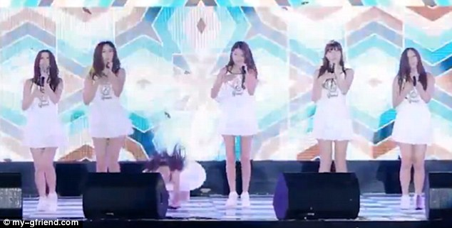 The girls were seen performing 'Me Gustas Tu' a song, once translated, describes the love between two people and features on their EP Season of Glass, that debuted in January this year