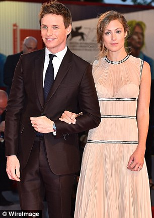 Redmayne with his wife Hannah Bagshawe at the film's premiere