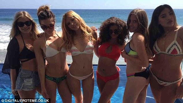 Having a blast! On Sunday, Bella Thorne Instagrammed her fun-filled day at the beach with her gal pals