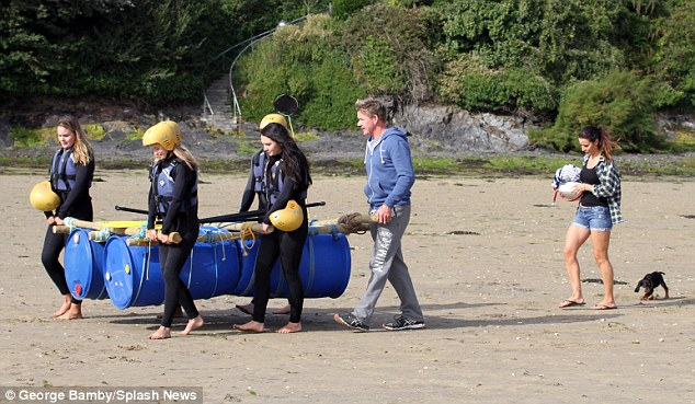 Clever! The Ramsays showed off their creativity and construction skills on the beach as they built a raft using barrels and planks to head into the sea