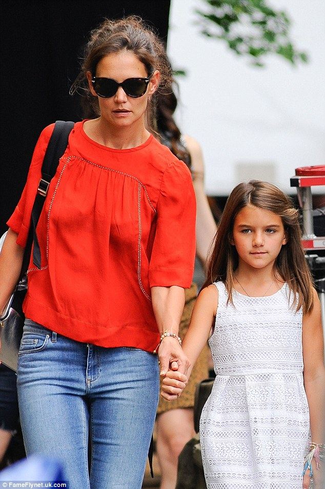 Bring your daughter to work day: Katie brought mini-me Suri to the set on August 24