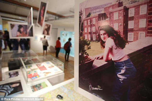 London girl: The exhibition features unseen images of the singer, including the image right outside her grandmother's flat