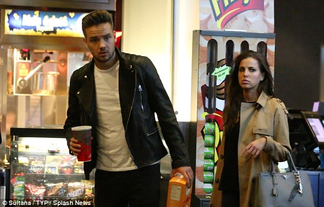 Day off: Liam Payne and Sophia Smith were spotted at a cinema in Ontario, Canada, on Sunday - where they were clearly off-duty and enjoying time away from celebrity