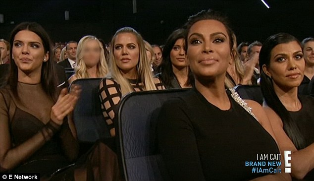 Support: The Kardashian and Jenner siblings watched from the audience