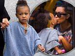 Kim Kardashian and baby North wearing a gold chain,take a walk in New York City\n\nPictured: North West\nRef: SPL1117570  070915  \nPicture by: RobO/Splash News\n\nSplash News and Pictures\nLos Angeles: 310-821-2666\nNew York: 212-619-2666\nLondon: 870-934-2666\nphotodesk@splashnews.com\n