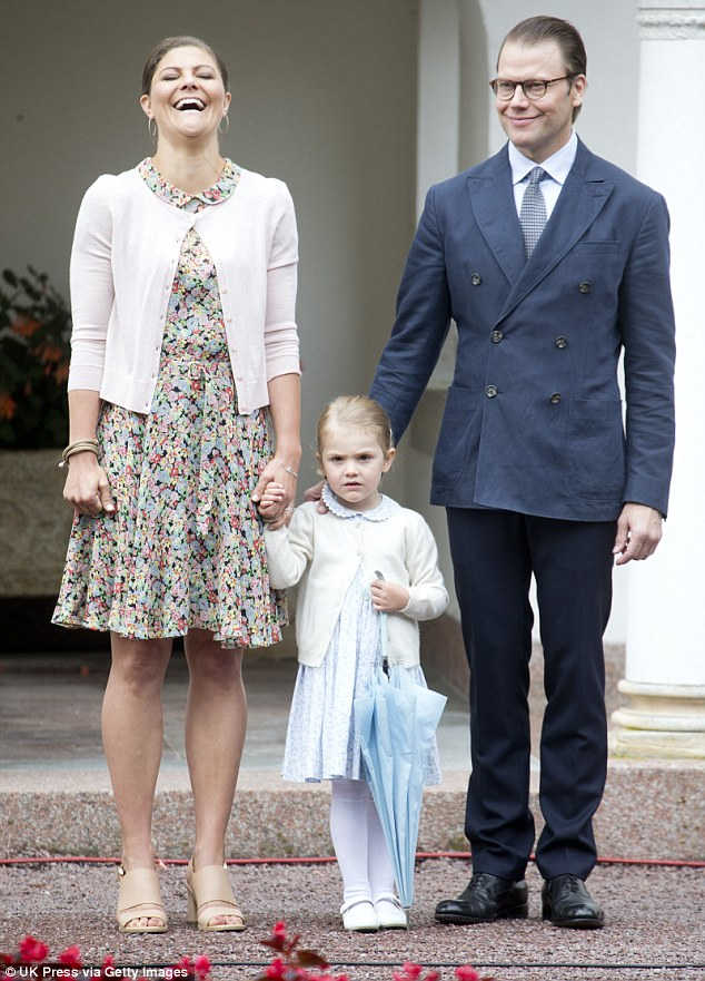 Delighted: In the statement released by the Sveriges Kunghaus, the royal said she was 'happy' at the news