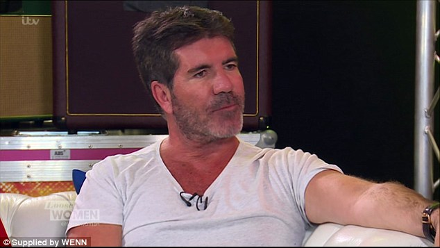 Opening up: Simon appeared on Loose Women on Monday to explain his emotions on the recent X Factor episode