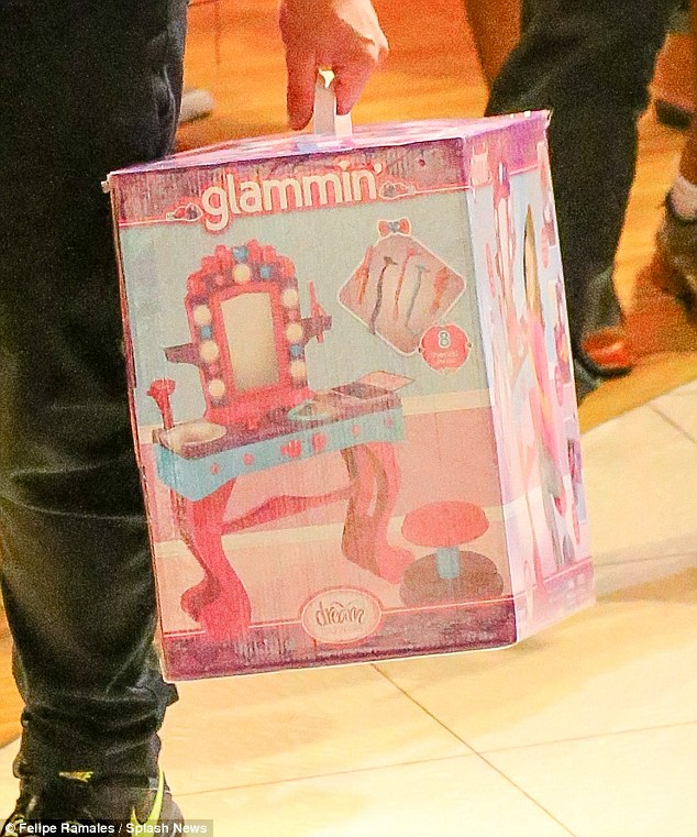 Style: Kim also treated young fashionista North to a 'Glammin' vanity set